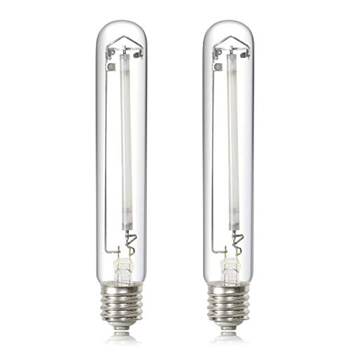 iPower GLBULBH600X2 2-Pack 600 Watt Pressure Sodium HPS Grow Light Bulb Lamp for Plants High PAR Enhanced Red and Orange Spectrums CCT 2100K, 600W