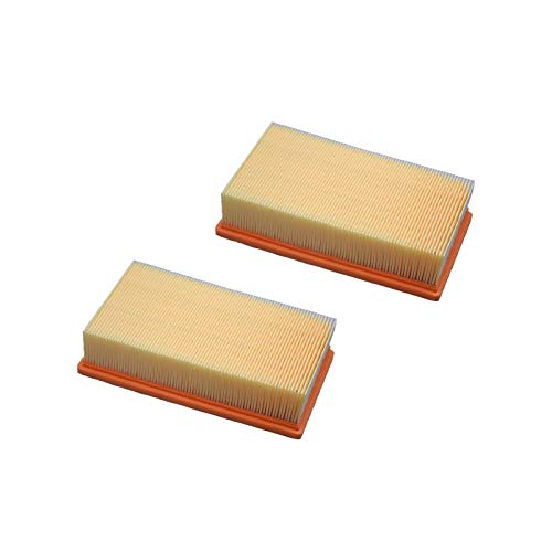 ZHIXIANG Flacher gefalteter Filterluftreiniger für Karcher ECO NT65 / 2 NT72 / 2 NT75 / 2 IVC 60/24-2 AP IVC 60/30 AP M Z22 Teile A1C3 69044830 NT652 (Color : LY115 2pcs)