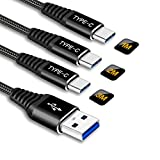 Cable USB C Carga Rapida,USB Tipo C Cable Nylon Trenzado Sincronización Compatible con Samsung...