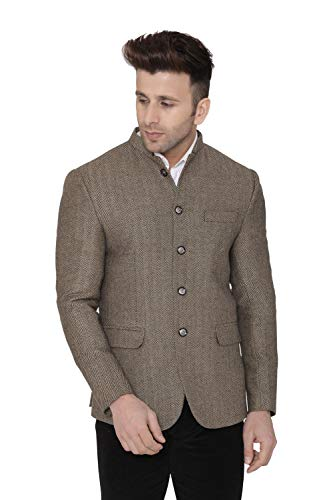 Mens Tweed Casual and Festive Brown Blazer Jacket