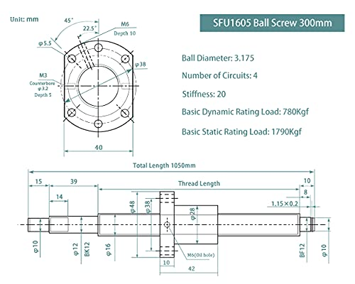1605 ball screw dimensions _image4