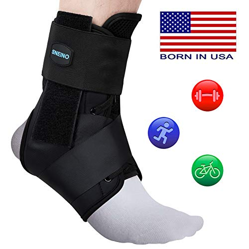 Ankle Brace for Women and Men - Ankle Brace Stabilizer, Lace Up Adjustable Support  for Running,Basketball,Volleyball Ankle Braces, Ankle Support,Injury Recovery, Ankle Brace for Sprained Ankle