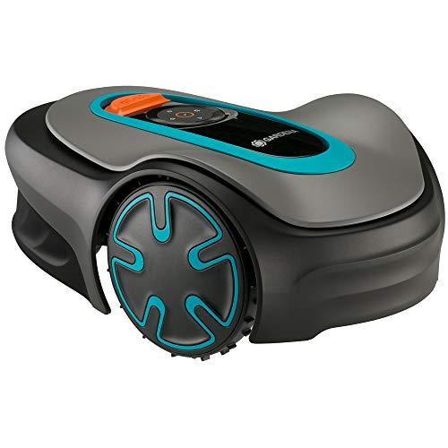GARDENA Mähroboter SILENO minimo: Mit Bluetooth App programmierbar, mäht automatisch und streifenfrei Flächen bis 250m², leiser Rasenroboter der Mähzeiten dem Graswachstum anpasst (15201-20)
