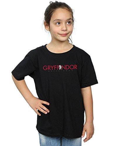 HARRY POTTER niñas Gryffindor Text Camiseta 12-13 Years Negro
