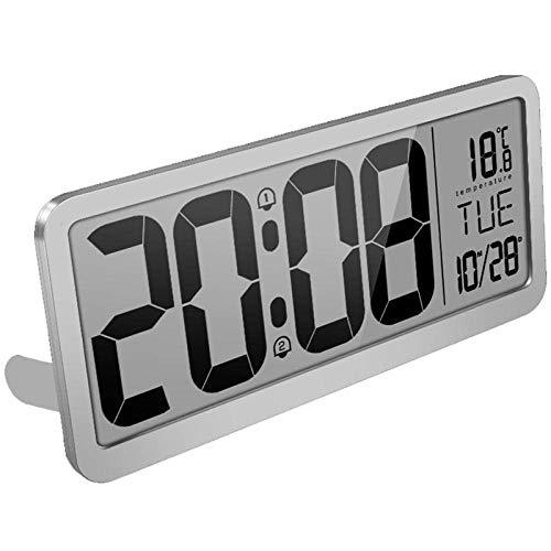 HCFSUK Digitale Wecker am Bett Extra große Digitale Wanduhr Schreibtischuhr Auto Time Selbsteinstellender Wecker Auto DST Zeit Ändernde Jumbo-Nummer Uhr Datum Digitaler Wecker