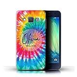 eSwish Personnalisé Tissu Tie-Dye Motifs Personnalisé Coque pour Samsung Galaxy A3/A300 /...