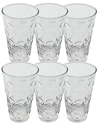 6 x Dubbegläser 0,5 Liter + 12 x Untersetzer (des is MOINER!) - Pfalz Dubbeglas Schoppenglas Weinglas für Rieslingschorle