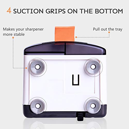 Electric Pencil Sharpener,Heavy Duty Helical Blade Sharpeners Plug in for Kids Artists Classroom Office School,Auto-Stop Feature for No.2 and Colored Pencils (Panda) Photo #4