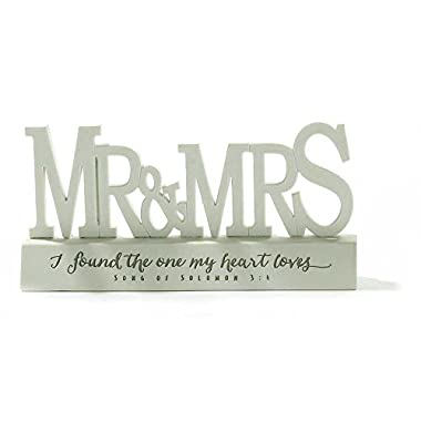 Mr. and Mrs. I Found the One Song of Solomon 3:4 Resin Stone Tabletop Word Plaque