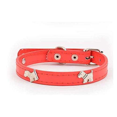 PXBHD Collar de Mascotas El tamaño del Cuello de Perro es Ajustable, Adecuado para Gatos y Cachorros, Suministros para Mascotas, Collar de Cachorro de tracción. (Color : 04, Size : L 44cm)