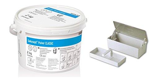 Sekusept Desinfektions-Pulver für medizinische Instrumente, Kosmetikstudios, Zahnärzte, Tierärzte, Desinfektion / Sterilisation, 1,5 l