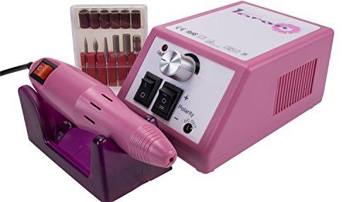 Laron S1101P Maniküre Pediküre Set in Pink inkl Fräser S1101P,