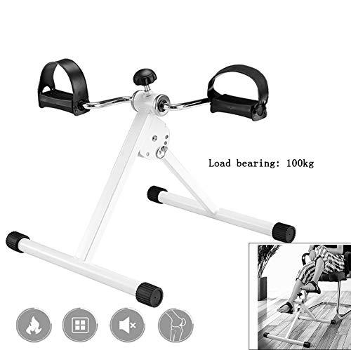Yajun Mini Heimtrainer Steppers Indoor Beintraining Tragbare Faltbare Heimfitnessgeräte Gym Stepper für Damen und Herren Weiß