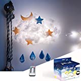 Tiktok Cloud Ceiling Lights for Bedroom - Easy to Make DIY Led Cloud Light Fluffy Kit,USB Powered Clouds for Ceiling Light with Remote Control&8 Lighting Modes - Fun DIY Crafts Gift for Kids