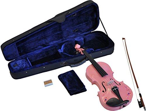 Steinbach 1/8 Geige im SET pink mit Blumendekor handgearbeitet