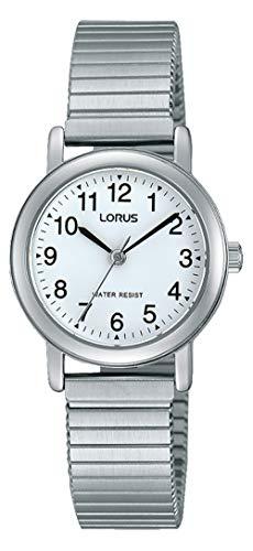 Lorus Klassik Damen-Uhr mit Palladiumauflage und Metallband RRS81VX9