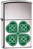 Zippo 'Celtic 4 Leaf Clover' High Polish Chrome Lighter, 1726