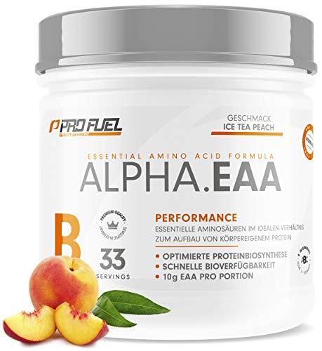 ALPHA.EAA | Premium EAA Pulver | Alle 8 essentiellen Aminosäuren | Erfrischend & Leicht | Top Löslichkeit und sensationeller Geschmack | 462g - ICE TEA PEACH (Eistee Pfirsich)