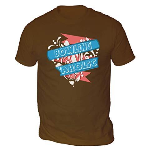 Bowling Aholic Herren T-Shirt (Abholen Farbe und Größe) - Schokolade, XXL
