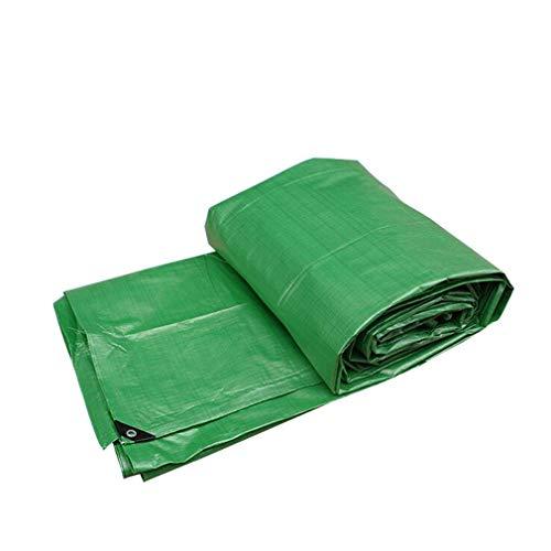 HCYTPL dekzeil PE-zeil waterdicht licht met oogjes tarp tuin zwembad kunststof vloerbedekking, kleur: groen
