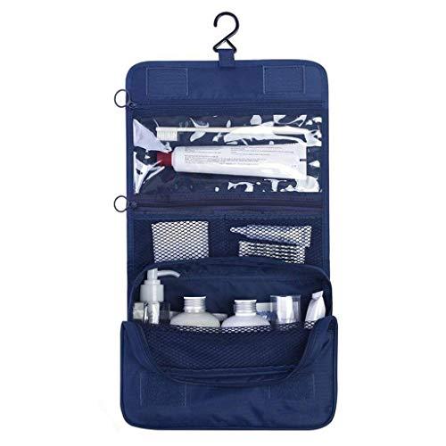 abaría – Bolsas de Aseo con portacepillos de Dientes - Neceser de Viaje 21 x 25 x 10 cm, Azul Marino