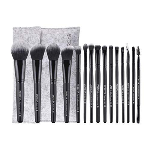MERIGLARE 16X Premium Makeup Brushes Set Foundation Blush Brush Avec Travel Makeup Bag