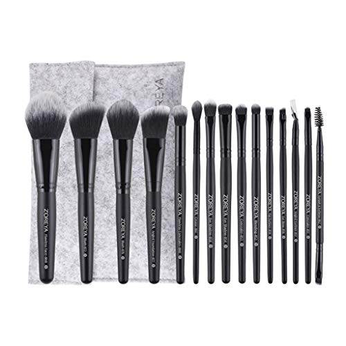 MERIGLARE 16X Premium Makeup Brushes Set Foundation Blush Brush Avec Travel Makeup Bag