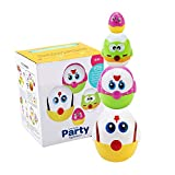 Easter Stacking Eggs Toys for Babies Boys Girls 1 2 3 Year Old, Nesting Toy Egg for Toddlers Kids