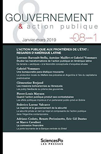 Gouvernement et action publique T9-1 (REVUE GOUVERNEMENT ET ACTION PUBLIQUE)