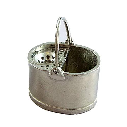 Melody Jane Maison de Poupées Warwick Accessoire Miniature Ancienne Métal Étain Mop Seau