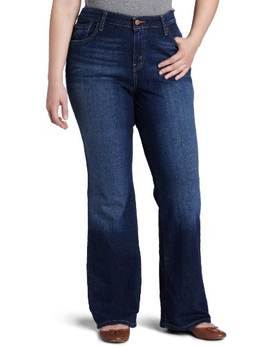 Levi's Women's Plus-Size 580 Curvy Bootcut Jean, Winding Road with Flap Back Pocket, 20 Plus