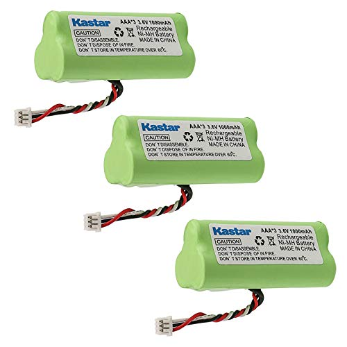 Kastar 3-Pack AAA 3.6V 1000mAh Ni-MH Rechargeable Battery Replacement for Zebra/Motorola Symbol 82-67705-01 Symbol LS-4278 LS4278-M BTRY-LS42RAAOE-01 DS-6878 Cordless Bluetooth Laser Barcode Scanner