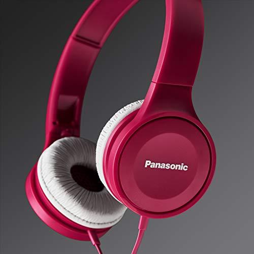 Panasonic RP-HF100ME-P On Ear Kopfhörer (Headset, 10-23.000 Hz, 30 mm Wandler, kompakt zusammenfaltbar) pink