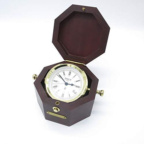 Wempe Chronometer im Mahagonikasten Maritim Uhr Selten Schiffsuhr sehr genau Messing poliert