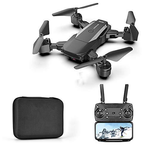 LYHLYH Drone avec caméra pour Adultes, 4k Drone Photographie aérienne Transmission d'images WiFi Hauteur Fixe Pliant Longue Endurance à Distance pour Les débutants et Les Enfants,Noir