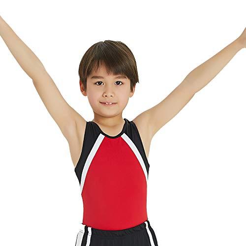 Gymnastikanzug für Jungen, für Kleinkinder, Ballett, Tanz, Training, Athletik, Wettkampf, Rot 108, XLC