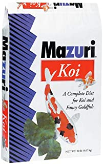 Mazuri Koi | Platinum Ogata Nutritionally Complete Koi Fish Food | for Large Koi - 20 Pound (20 lb) Bag