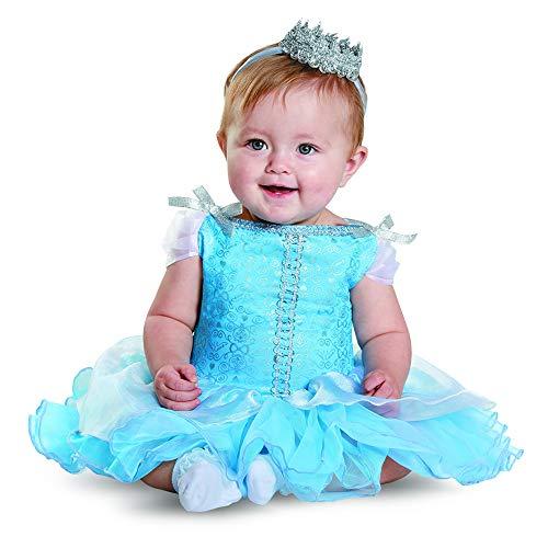 Disguise Baby Girls' Cinderella Prestige Infant Costume, Blue, 6-12 Months
