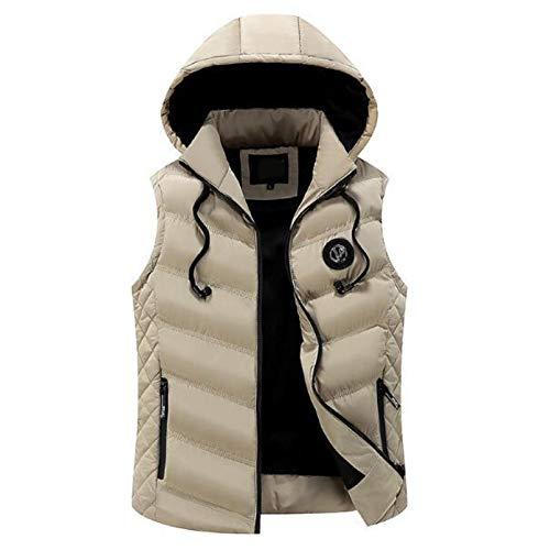 Chaleco de plumón con capucha, para hombre, con capucha, para hombre, ultraligero, sin mangas, para deportes de invierno/viajes/informales.