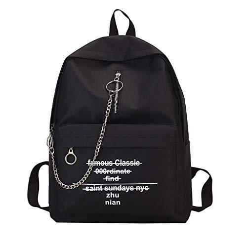 Rugzak dames waterdichte anti-diefstal canvas schooltassen dagrugzak schoudertas zwart