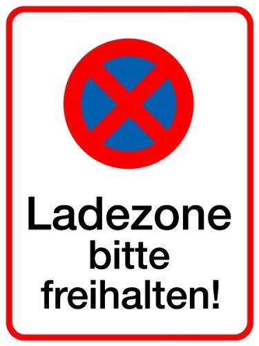 H.Klar Schild Alu Ladezone bitte freihalten 400x300mm