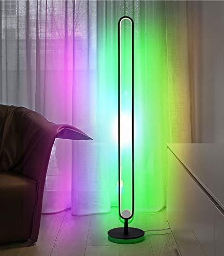 Ydshyth 20w RGB Farbwechsel Stehlampe, Modern Style Decor Hohe Lampe Dimmbare Led Stehleuchte Mit Fernbedienung Für Spielzimmer, Wohnzimmer