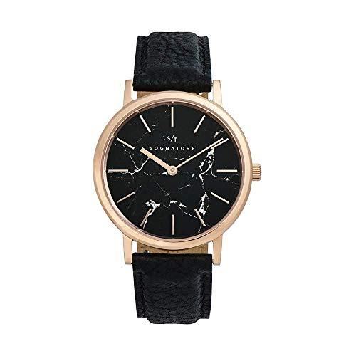 Sognatore Marmer Zwart Rose Goud Dames Horloge/Heren Horloge