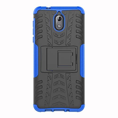 SHIEID Hülle für Nokia 3.1-Hülle Tough Hybrid Armor Hülle,Diese Handyhülle Anti-Wrestling Travel Essential Faltbare Halterung für Nokia 3.1(Blau)