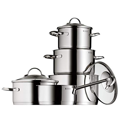 WMF Provence Plus - Batería de Cocina, Acero Inoxidable Cromargan, Tapas de Cristal, Apta para Todo...