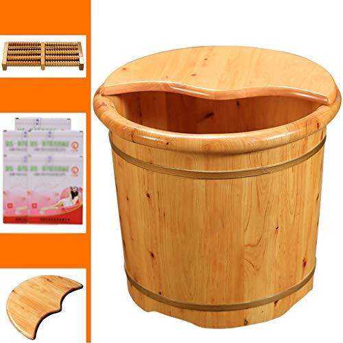 ZXC Home Voetbad van hout, voetbad met deksel, massagehaus voor barrel, 2 soorten drie opties