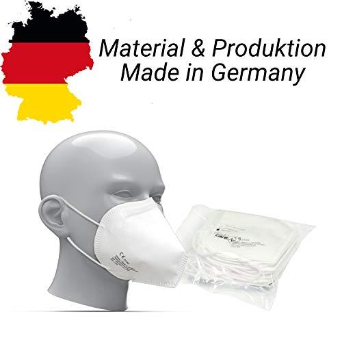 elasto form 10x FFP2 Atemschutzmaske MADE IN GERMANY FFP2 Zertifiziert CE 2163 KN95 Maske Staubschutzmaske Atemmaske Staubmaske verpackt im hygienischen PE-Beutel - 4
