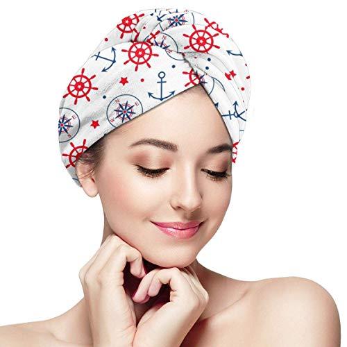 Serviette de séchage de cheveux de style marin - casquette sèche pour femmes filles