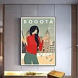 Malen auf Leinwand 40x60cm ohne Rahmen Bogota Poster, Reise