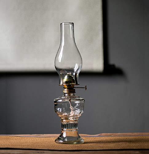 Lampe a petrole ancienne, lampe tempete Nostalgie Rétro, verre lampe petrole de Secours pour Décoration D'éclairage à la Maison (32 CM)